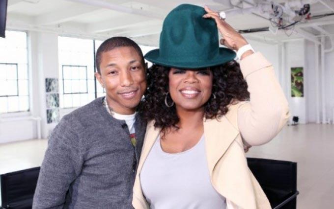 Oprah Winfrey and Pharrell Williams Happy on Prime