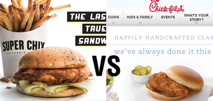Super Chix vs Chick-fil-A