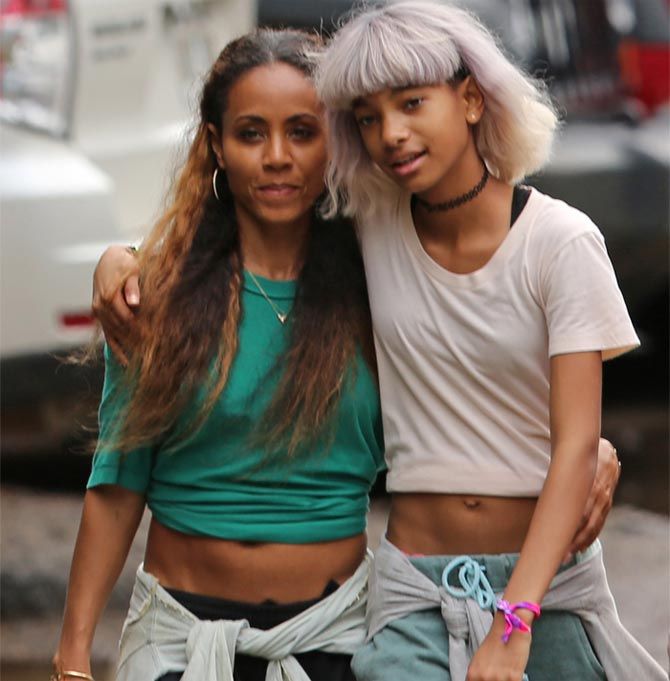 Jada Pinkett Smith Willow stroll