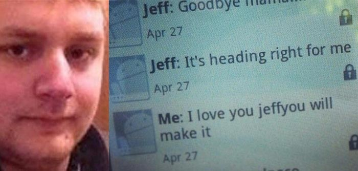 Jeffrey Hunter last text Goodbye Mama during Arkansas tornado