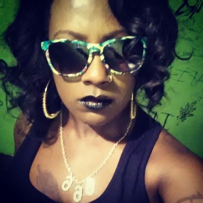 Gangsta Boo shades rainbow