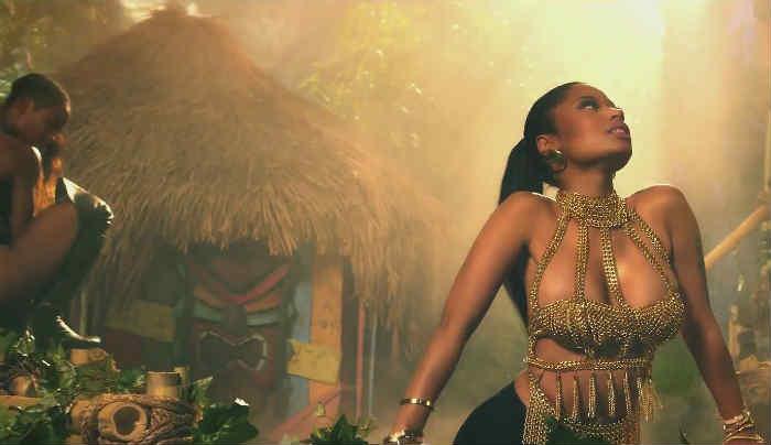 Nicki Minaj performing Anaconda