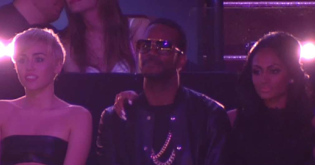 Regina hugs Juicy J at MTV VMAs