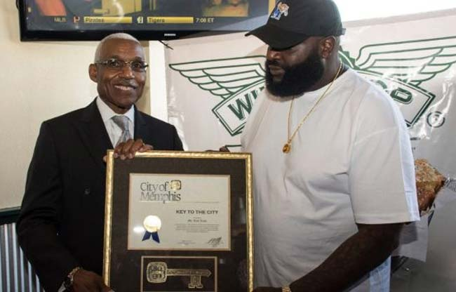 Rick Ross and Mayor AC Wharton 5th Wingstop
