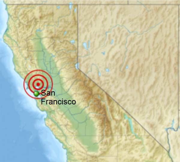 San Francisco, California - Napa earthquake 2014