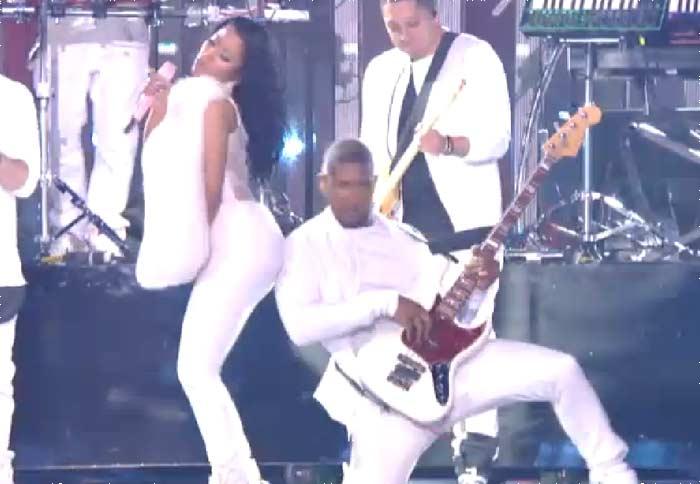 Usher Nicki Minaj booty slap MTV VMA -2