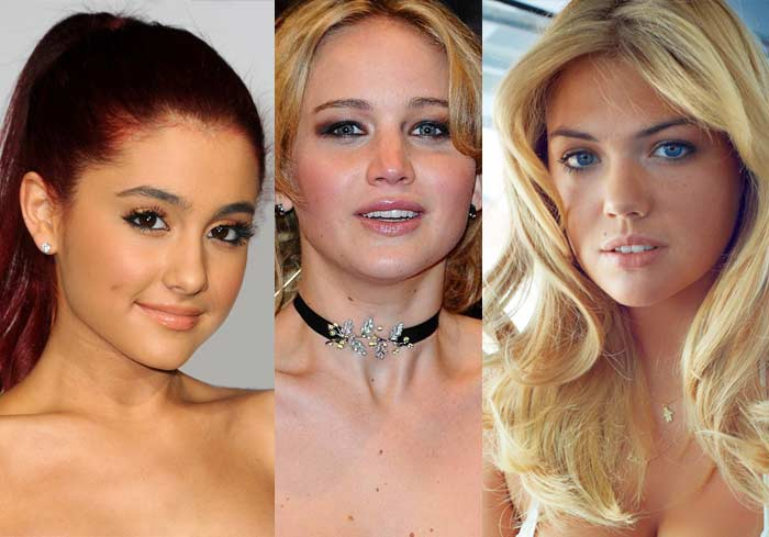 Ariana Grande, Jennifer Lawrence, Kate Upton leaked photos