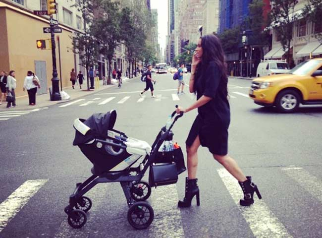 Ciara talking baby Future for a stroll NYC