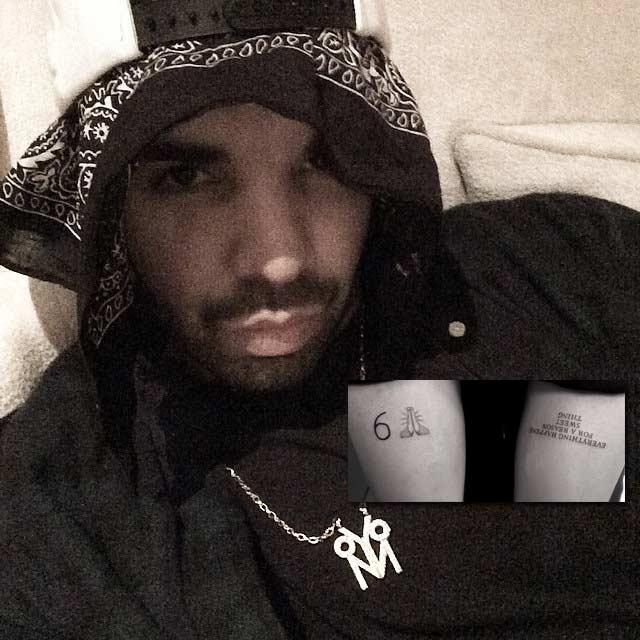Drake gets new tattoo 6 praying emoji
