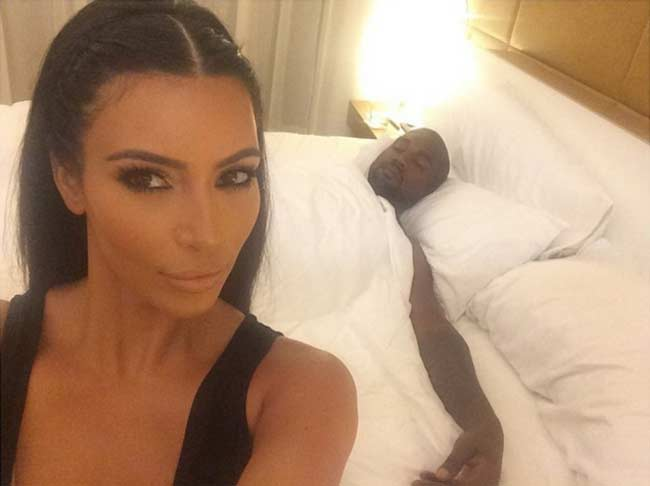 Kim and Kayne West bedroom