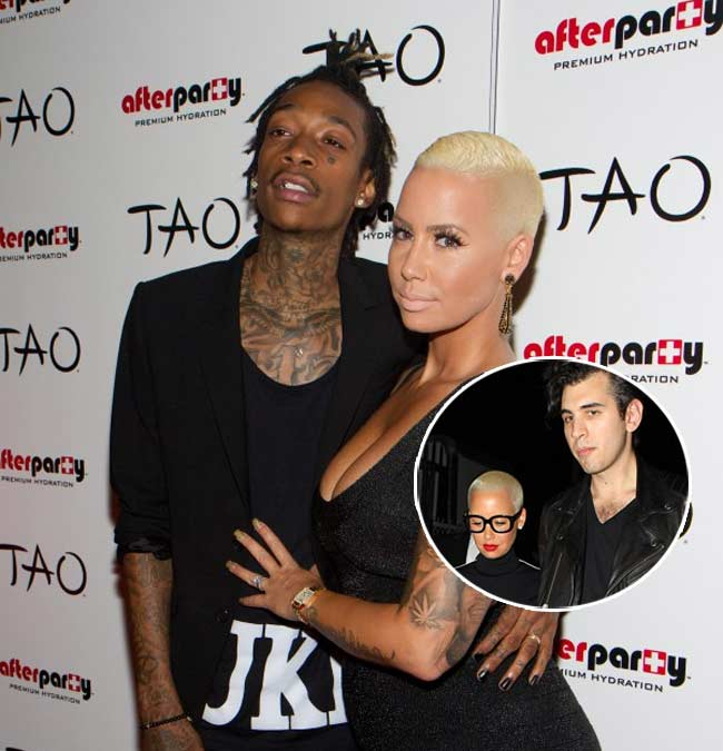 Amber Rose, Wiz Khalifa, Nick Simmons