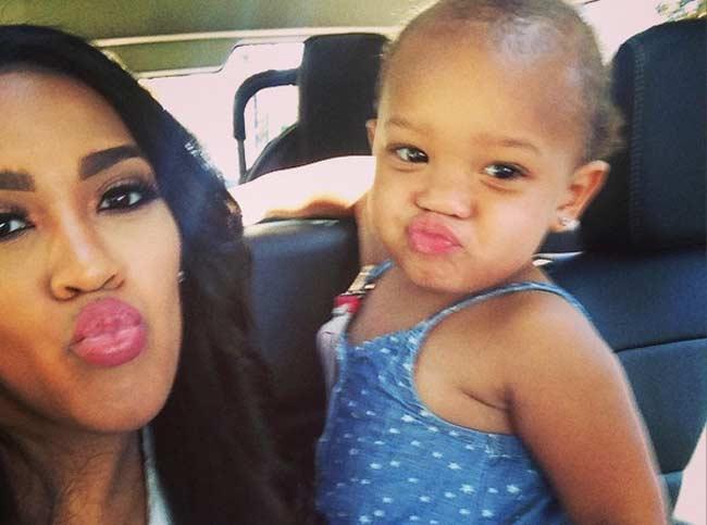 Nia Riley and Kamryn daughter