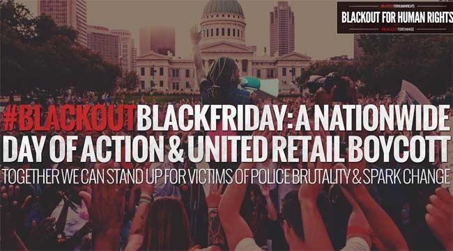 Black Out Black Friday protestors