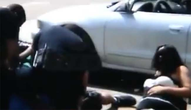 Denver police trips pregnant woman