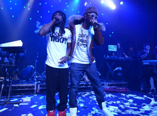 Juicy J and Lil Wayne in Los Angeles Redbull Sound Select