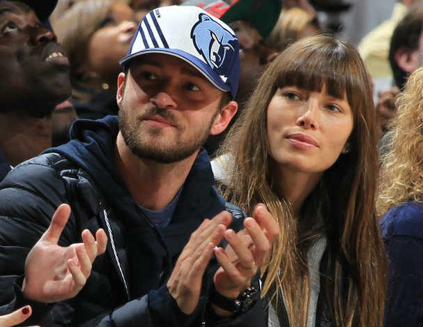 Justin Timberlake and wife Jessica Biel Memphis Grizzlies owners