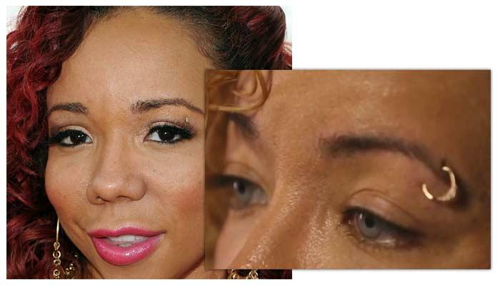 Tameka Tiny Harris eye color surgery