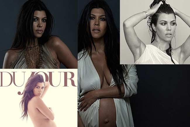 Kourtney Kardashian pregnant Dujour