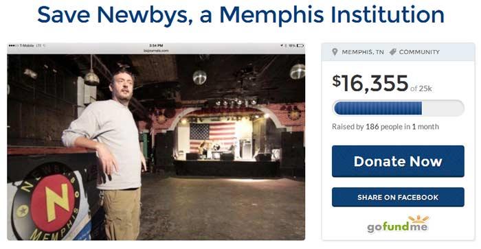Newby's Closes Seeks Funding