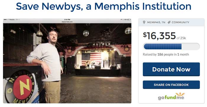 Newby's Closes Seeks Funding