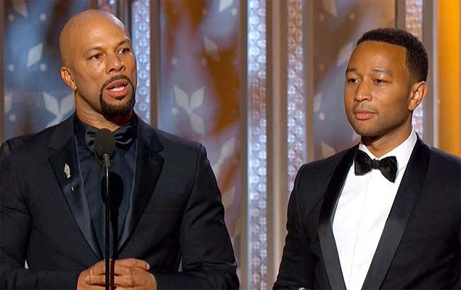 Common and John Legend at Golden Globes