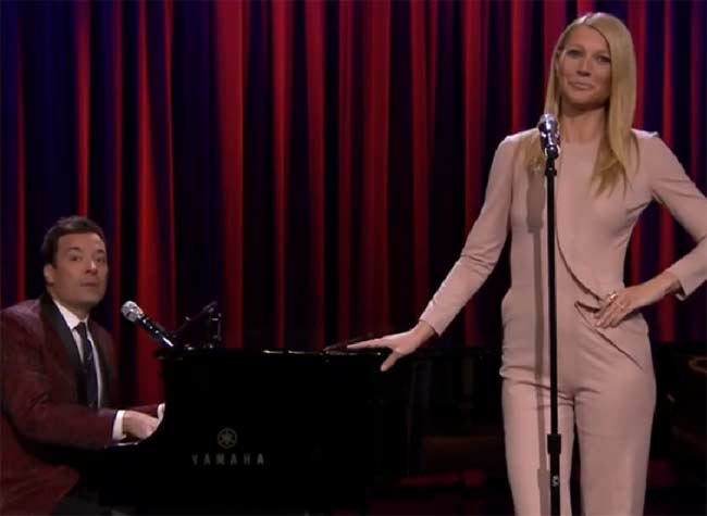Gwyneth Paltrow and Jimmy Fallon hip hop broadway