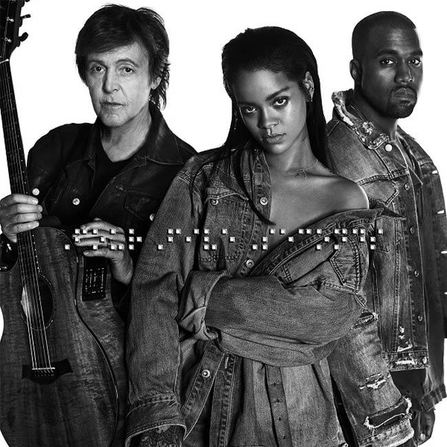 Rihanna Kanye West Paul McCartney FourFiveSeconds