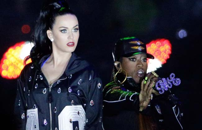 Katy Perry Missy Elliott Super Bowl 2015 Halftime